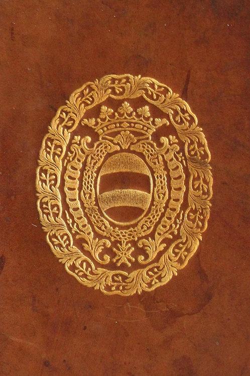 Histoire en abrégé de Louis le Grand par Bussy-Rabutin. Relié aux armes d'Hoym