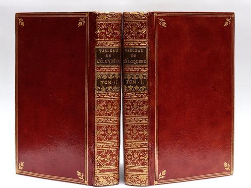 Lanjuinais. Manuel des jeunes orateurs ou Tableau historique etc. 1777. Maroquin