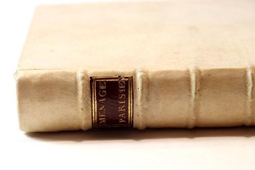 Rétif de La Bretonne. Le Ménage Parisien (1773). Unique édition. Bel ex. Reliure