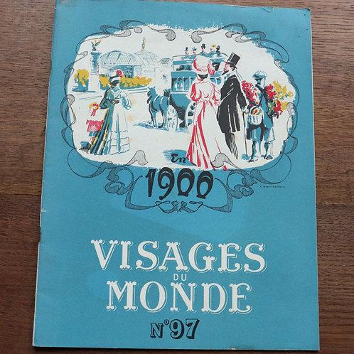 1950 Visage du Monde N°97 En 1900 art femme chanson art nouveau belle époque