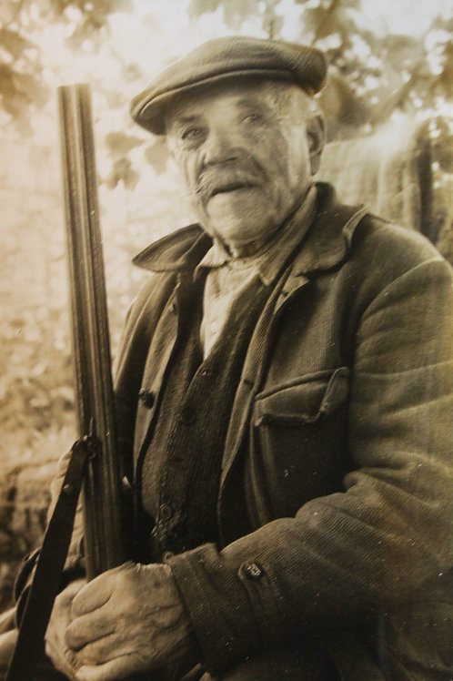 Photo presse 1963 le plus vieux chasseur de France Darnac Limousin
