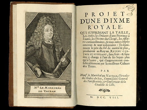 Vauban. Projet d'une dixme royale. 1708
