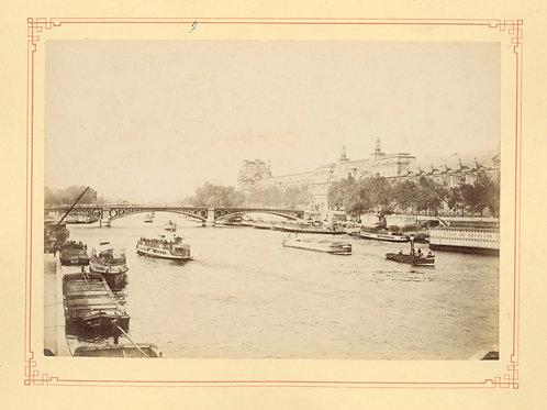 Paris 1890 1900 Photographie ancienne monument scène animée Tirage albumine 5