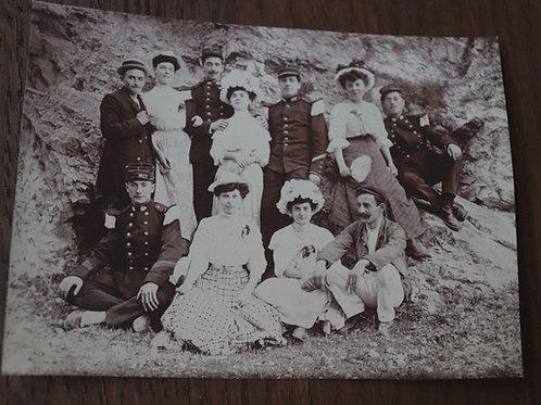 Photographie ancienne 1905 femmes hommes élégants Calanque Marseille Mode