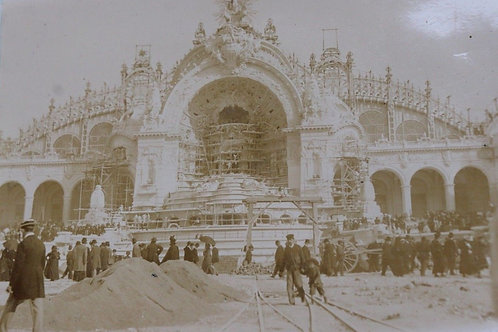 Paris 1900 Photographie ancienne Exposition Universelle Palais de l'électricité