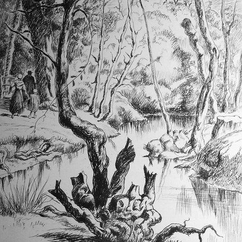 La Petite Fadette de George Sand illustré par Nick Petrelli (1946). 1 des 20 ex.
