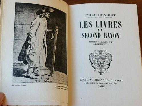 1948 Les livres du Second Rayon irréguliers et Libertins  Henriot Curiosa