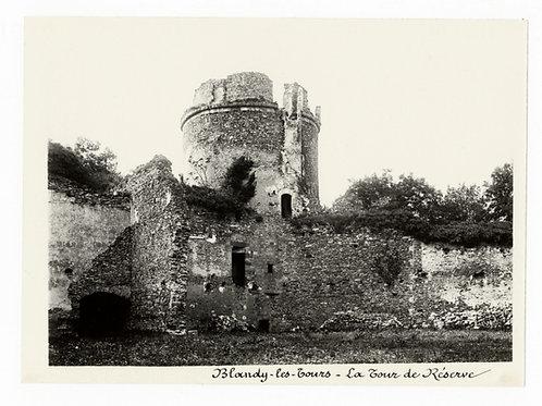 Photographie ancienne vers 1910 Blandy les Tours Ruines château Seine et Marne 2