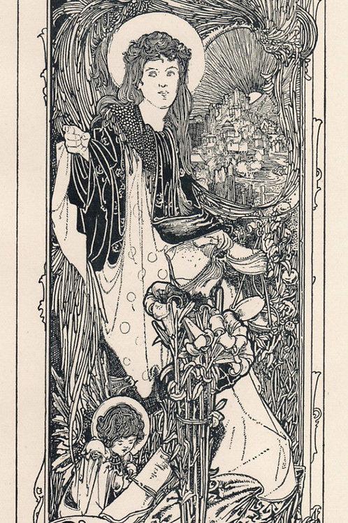Charles Robinson. Pour Fred W. Brown. 1898-1899. Ex Libris. Book-Plate.