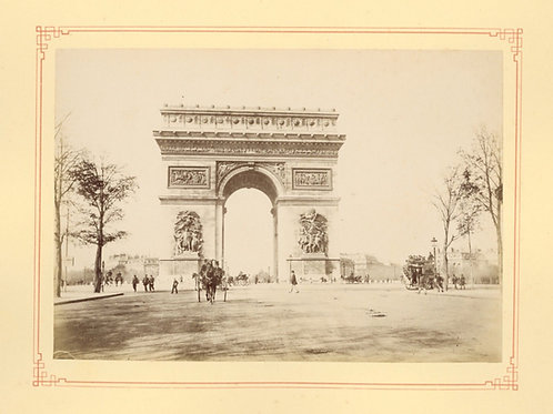 Paris 1890 1900 Photographie ancienne monument scène animée Tirage albumine 14