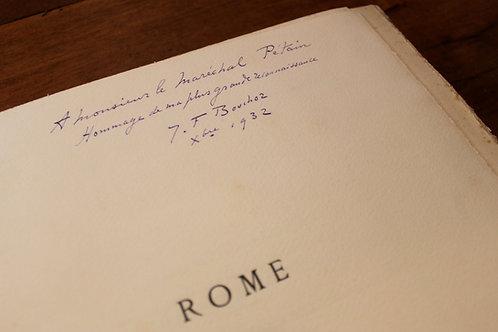 C. Mauclair. J.-F. Bouchor. Rome (1932). Bibliothèque du Maréchal Pétain