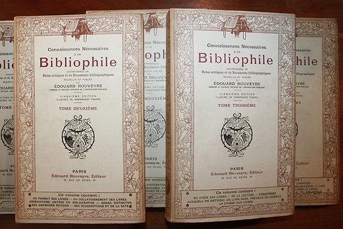 Connaissances nécessaires à un Bibliophile (1899). 10 volumes brochés