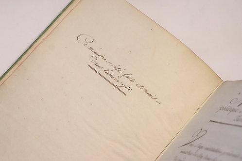 Fr.-Cl. de Chauvelin. Mémoire politique sur la Cour de Turin. 1766. Manuscrit.