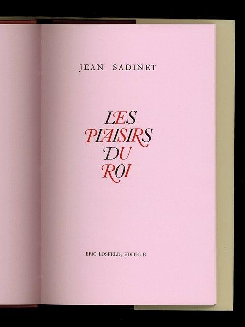 1968 Losfeld Jean Sadinet Les Plaisirs du Roi curiosa erotica Bettencourt