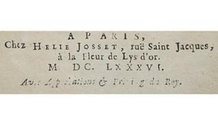 Hélie Josset (1636?-1711?), un imprimeur-libraire chez les jansénistes. Quelques pistes pour le pist
