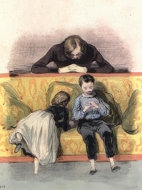 Les Enfants terribles par Gavarni (1838-1842). Lithographies originales