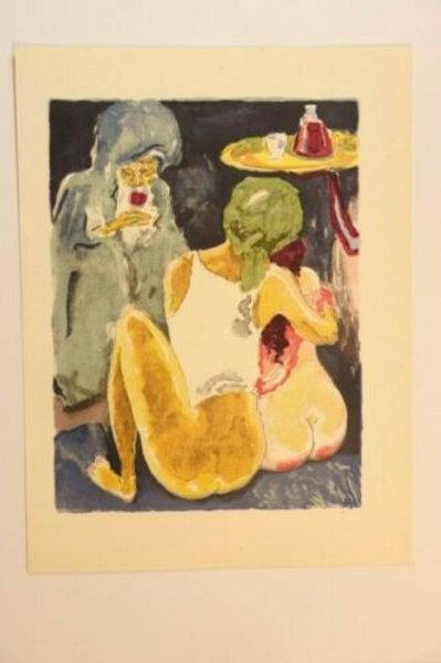 Kees Van Dongen Estampe couleurs 1955 aquarelle Mille et une nuits Oriental N°43