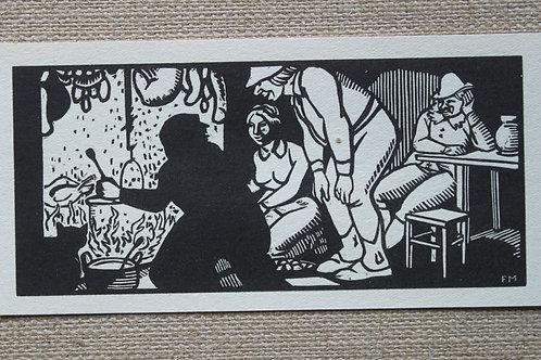 Gravure bois de Frans Masereel 1917