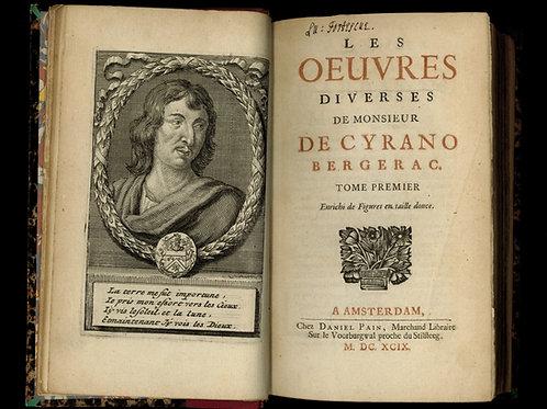 Cyrano de Bergerac. Œuvres diverses (1699). Rare. Agréable exemplaire.