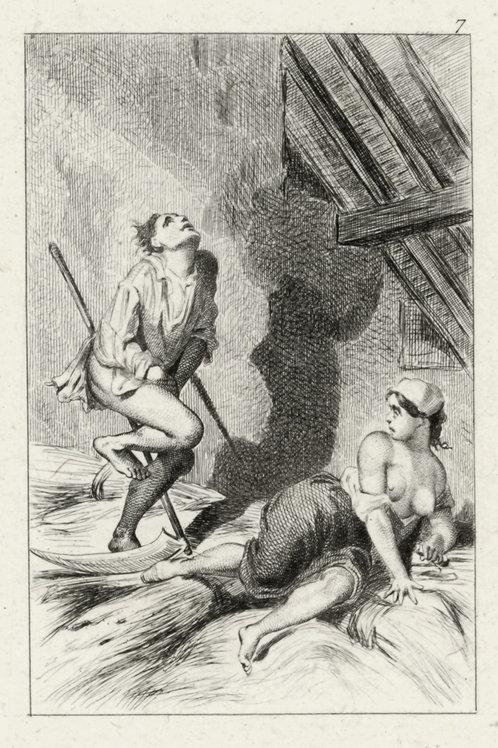 Estampe érotique (gravure sur cuivre) vers 1870-1880 ? N°4