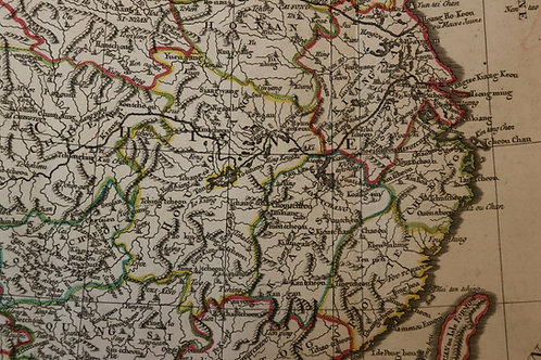 1765 1770 Map Carte géographique Atlas Philippe Prétot Moithey Chine China