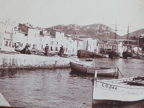 Photographie ancienne 1904 Port de Cassis
