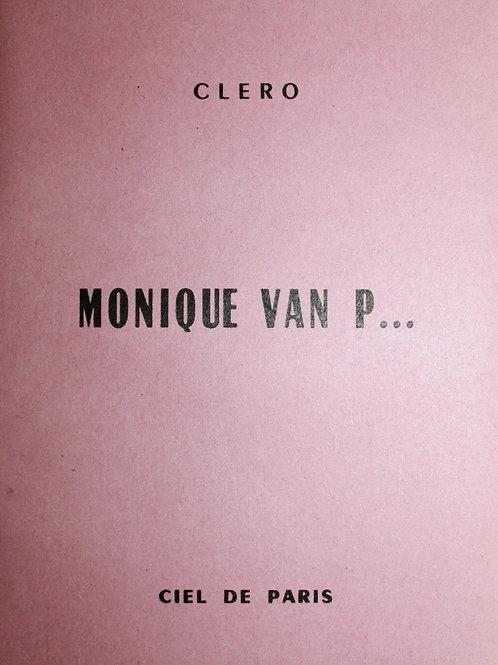 Monique Van P... (1956). Roman pornographique clandestin. Bel exemplaire
