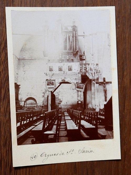 Photographie ancienne 1899 Saint-Savin Orgues Eglise La Vienne