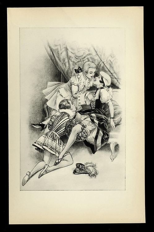 1936 Herrick Chéri Hérouard illustration héliogravure Fouet Fessée