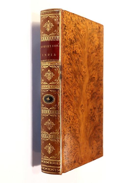 William Robertson. India (1794). Second edition. Très belle reliure de l'époque