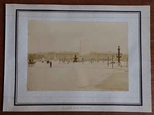 Paris 1900 Photographie ancienne 1900 Place de la Concorde