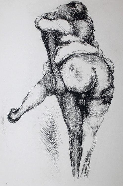Frans de Geetere. Assaut. Eau-forte érotique (vers 1930). 150 ex