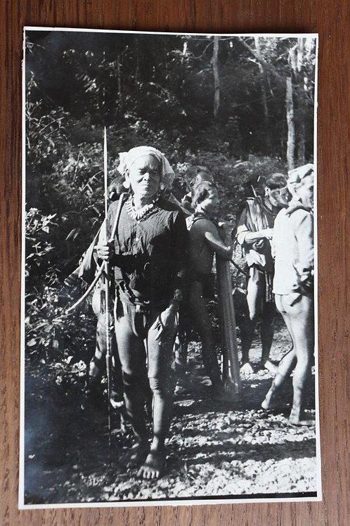 Photographie ancienne 1937 Viêt Nam Vinh Long homme tribu Moï 16 cm x 10,5 cm
