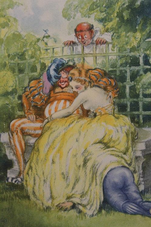 Louis Icart. Estampe érotique pour Pantagruel (1936). Eau-forte en couleurs