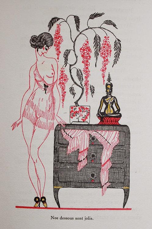 Les Confidences Libertines par Lucie Paul Margueritte (1922). Dessins Art Déco