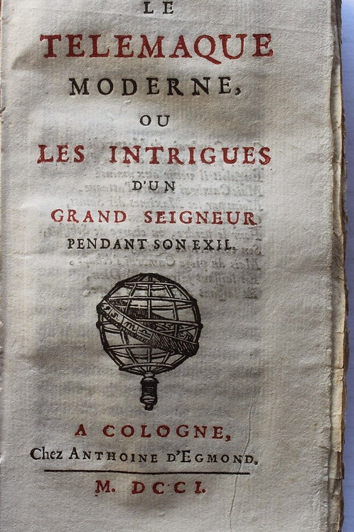1701 Le Télémaque moderne intrigues d'un grand seigneur par Grand-Champ