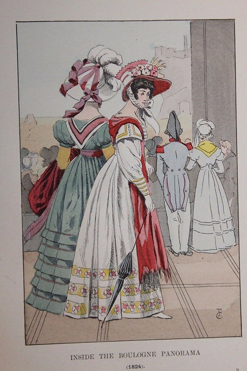 1901 Fashion in Paris Mode à Paris Estampe orginale coloriée François Courboin