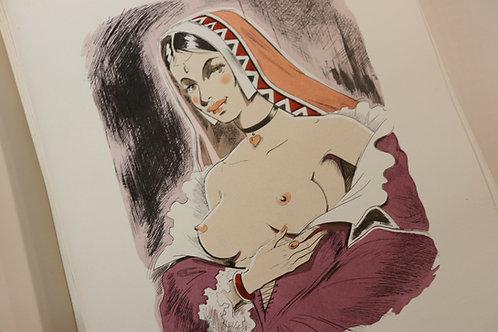 La Vie des Dames Galantes de Brantôme (1960). Illustrations de Pierre Leconte