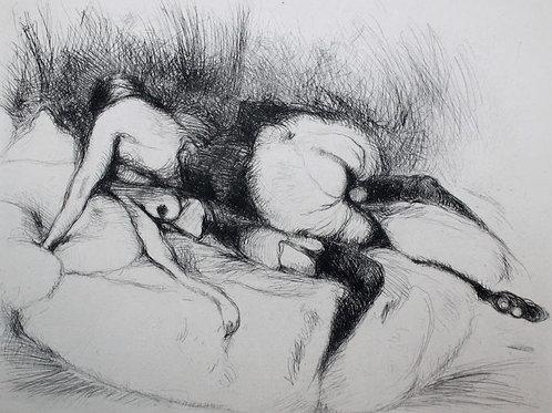 Frans de Geetere. En visite. Eau-forte érotique (vers 1930). 150 ex