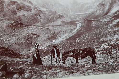 Photographie ancienne 1899 Vallée du Lac Bleu Hautes Pyrénées Bigorre Lesponne