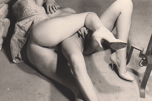 Photographie originale érotique (vers 1960). Duo Saphique