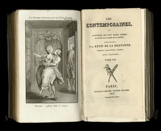 Les Contemporaines de Rétif de la Bretonne. Remise en vente de 1825 par le libraire Peytieux. Paul L