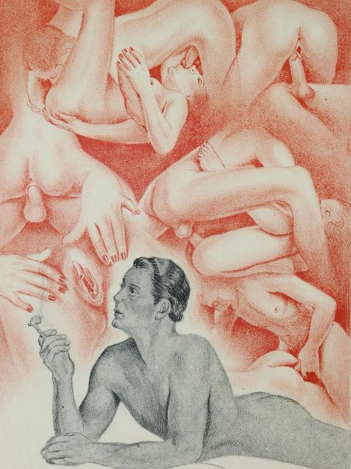 Alfred de Musset. Gamiani (1948). Lithographies libres attribuées à Jacques Nam