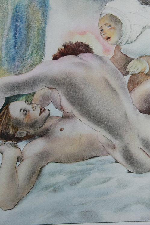 Mariette Lydis. Estampe érotique (1935). Nu (5)