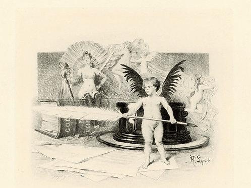 1887 Octave Uzanne Gaujean Albert Lynch Estampe Paroissien célibataire Japon