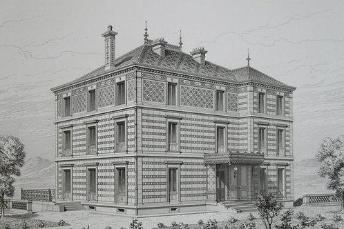 Architecture Viollet-le-Duc Habitations Modernes VILLA PAU BASSES PYRENEES