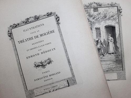 Illustrations pour le Théâtre de Molière par Hédouin (1888). Suite sur Japon