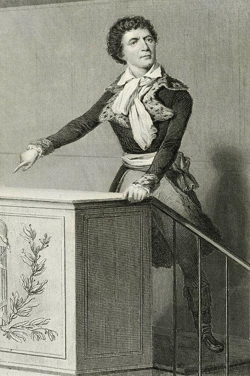 MARAT 1840 / 1850 Portrait révolution française Belle Gravure acier