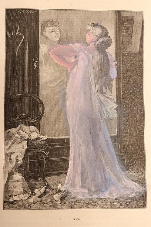 Emile Zola. Nana (1882). Première édition illustrée. 1/100 ex. Hollande.