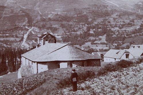 Photographie ancienne 1899 Eglise de Sère vallée de Luz Hautes Pyrénées Montagne